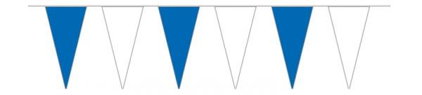 Wimpelketten blau/weiß, 5 m